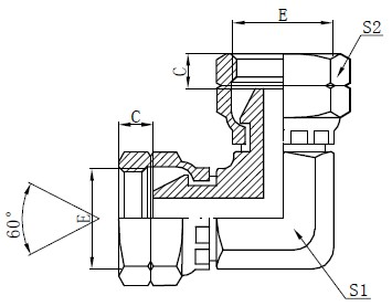 BSP Ženski lakat adapter za crtanje