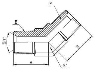 BSPT crtež muškog konektora