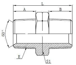 Hidraulični NPT muški adapteri za crtanje