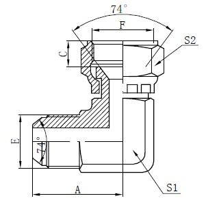 JIC Flat Face konektori za crtanje